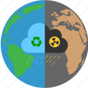 biohazard, climate, toxic, warming icon
