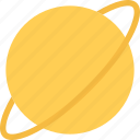 planet, global, saturn, space icon