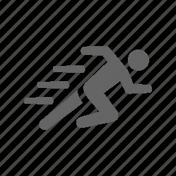 hurry, improve, performance, run, speed, sport icon
