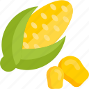 corn, food, plant, vegetables icon
