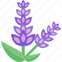 flower, plant, purple, sheet icon