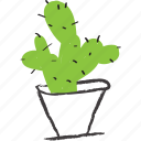 cacti, cactus, decorative, nature, planter icon