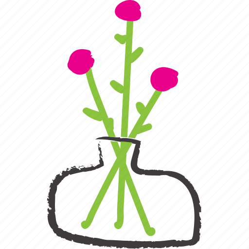 decoration, flowers, happy, joyful flowers, little flowers, little roses, vase icon