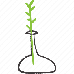 branch, decoration, green, plant, stick, vase icon