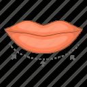 correction, lips, surgery, woman icon