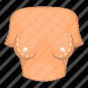 breast, correction, female, surgery icon