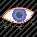 correction, eye, surgery, woman icon