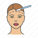 face lift, facelift, facial, forehead, lifting, plastic surgery, surgery icon