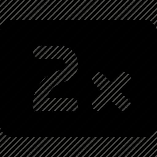 2x, speed icon