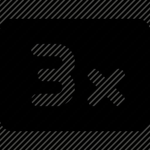 3x, speed icon