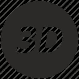three-dimensional image icon