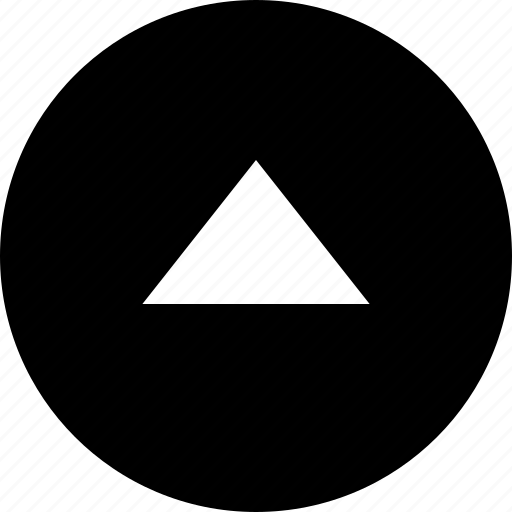 control, direction, triangle, up, upward icon