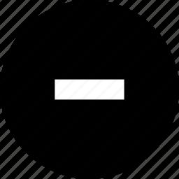 down, minus, remove, volume icon