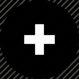 add, cross, plus, up, volume icon