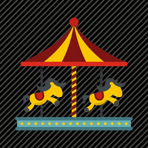 amusement, carnival, carousel, circus, horse, park, round icon