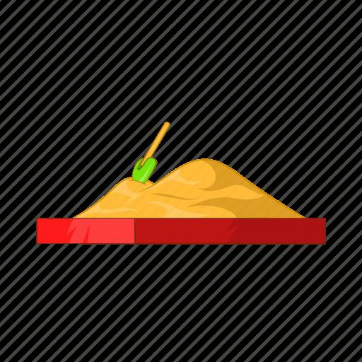 cartoon, childrens, outdoor, play, sandbox, sandpit, sign icon