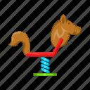 cartoon, childhood, fun, horse, play, sign, swing