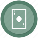 blackjack, card, casino, gambling, poker, spade card icon
