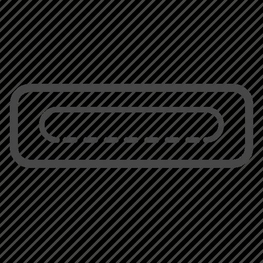 cable, plug, port, slot, three, usb icon
