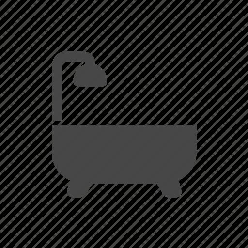 bath, bathroom, clean, shower icon
