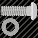bolt nut, fixer, garage tool, hardware, workshop icon