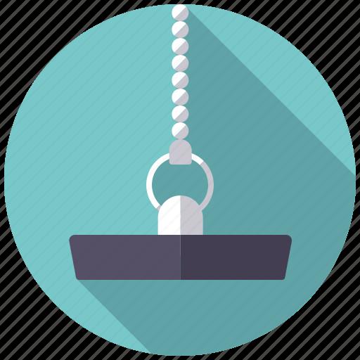 Chain Drain Stopper Plug Plumbing Rubber Icon