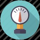 dial, pipe, plumbing, pressure meter icon