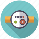appliance, dial, pipe, plumbing, water meter icon