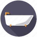 bath, bath tub, bathroom, home, household, plumbing, sanitary facilities icon