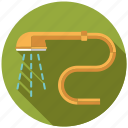 appliance, bathroom, facilities, plumbing, sanitary, shower head, water icon