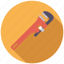 adjustable, equipment, plumbing, tool, wrench icon