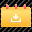 upload, schedule, calendar, date, arrow