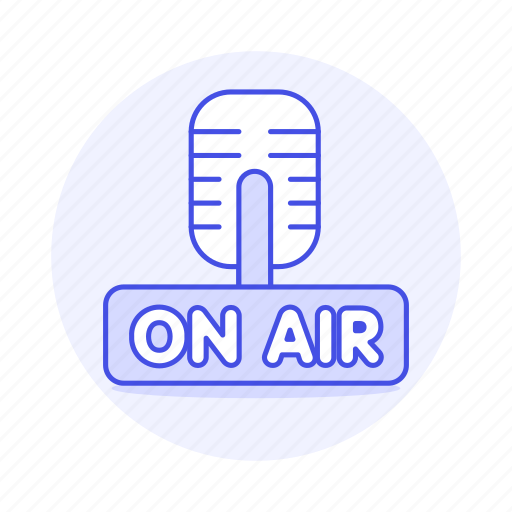 3, air, audio, broadcast, live, microphone, news, on, podcast, radio, station, streaming icon