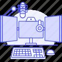 audio, broadcast, desktop, home, live, podcast, record, station, stream, studio, workstation icon
