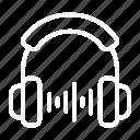 audio, headphone, headset, listening, microphone, podcast icon