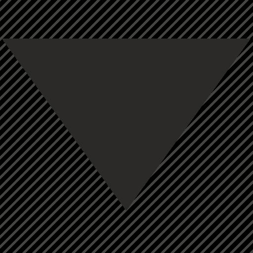 arrow, bottom, down, pointer icon