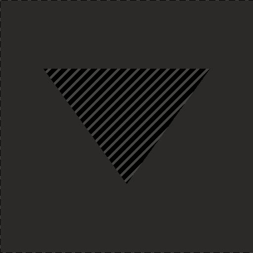arrow, bottom, down, form, pointer, square icon
