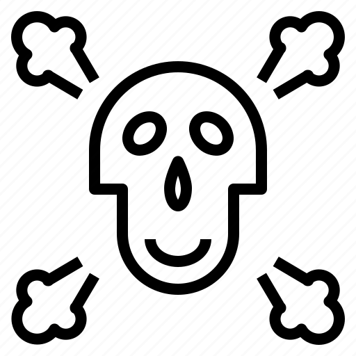 Caution, danger, dangerous, dead, skull icon - Download on Iconfinder