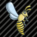 animal, bee, cartoon, honey, logo, object, wasp