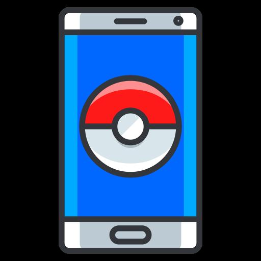 game, go, mobile, phone, play, pokemon, technology icon