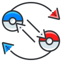 exchange, game, go, play, pokemon icon