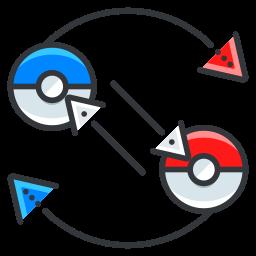 exchange, game, go, play, pokemon icon