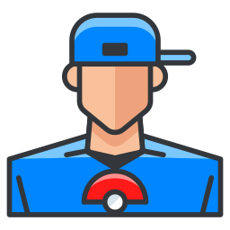 boy, game, go, play, pokemon, trainer icon