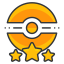 game, go, poke, pokemon, star, three, trainer icon