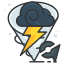 game, go, play, pokemon, storm, weather icon