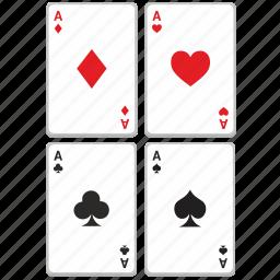 cards, casino, gambling, game, poker icon