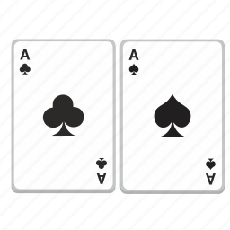 aces, cards, casino, game, play, poker icon