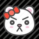 angry, arctic, avatar, bear, cute, face, polar