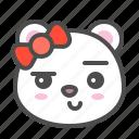 arctic, avatar, bear, cute, face, polar, smirk