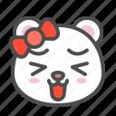 arctic, avatar, bear, cute, face, happy, polar